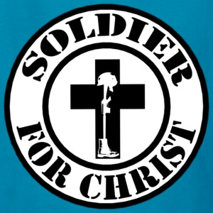kids Soldier for Christ design - Kids' T-Shirt