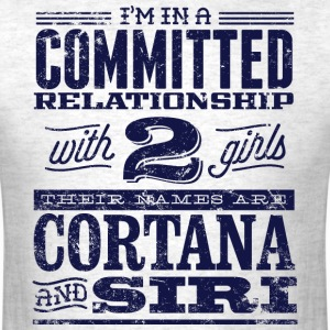 Cortana and Siri - Men's T-Shirt