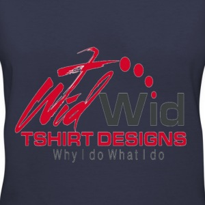 ladies wid wid logo 2 - Women's V-Neck T-Shirt