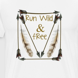 Run Wild and Free Graphic T-Shirts - Men's Premium T-Shirt