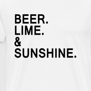 Beer, Lime, and Sunshine T-Shirts - Men's Premium T-Shirt