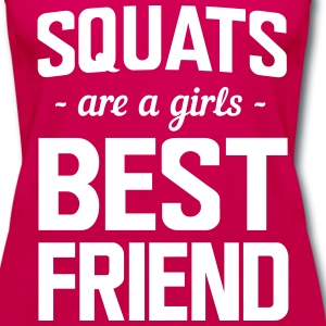 Squats are a girls best friend Tanks - Women's Premium Tank Top