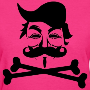 TRUMP ANONYMOUS MOUSTACHE THE PIRAT BAY BONES T-Shirts - Women's T-Shirt