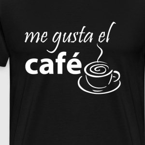 I Love Coffee Graphic Spanish T-shirt T-Shirts - Men's Premium T-Shirt