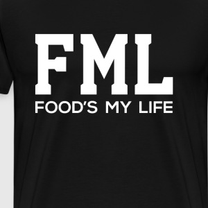 Food is My Life Acronym Funny T-shirt T-Shirts - Men's Premium T-Shirt