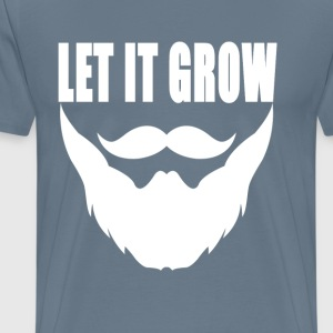 let_it_grow_beard_ - Men's Premium T-Shirt