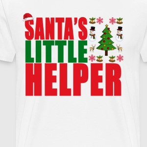 santas_little_helper_christmas_ - Men's Premium T-Shirt
