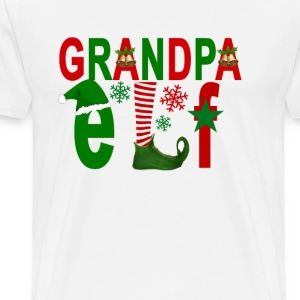 granpa_elf_christmas_ - Men's Premium T-Shirt