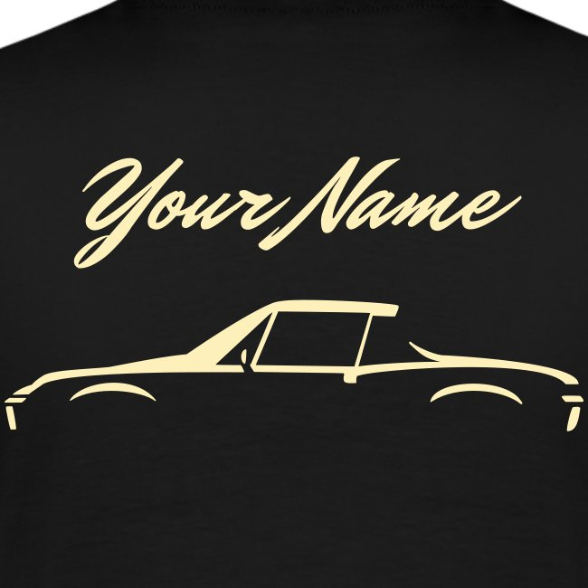 Your Name on the back +design on front