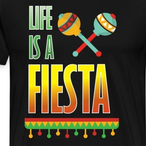 Life is a Fiesta Graphic Mexican Party T-shirt T-Shirts - Men's Premium T-Shirt