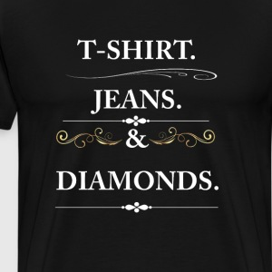 Women's T-shirt Jeans and Diamonds Vintage Graphic T-Shirts - Men's Premium T-Shirt