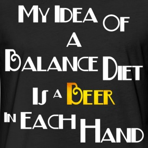 MY BALANCE DIET T-Shirts - Fitted Cotton/Poly T-Shirt by Next Level