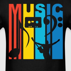 1970's Style Rainbow Music T-Shirt - Men's T-Shirt