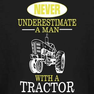 NEVER UNDERESTIMATE A MAN WITH A TRACTOR! Kids' Shirts - Kids' Long Sleeve T-Shirt