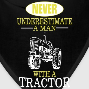 NEVER UNDERESTIMATE A MAN WITH A TRACTOR! Caps - Bandana