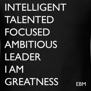 Black Men I AM GREATNESS T-Shirts - Men's T-Shirt