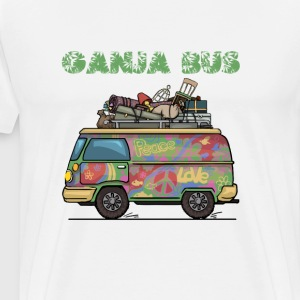 Ganja Bus Graphic T-shirt T-Shirts - Men's Premium T-Shirt
