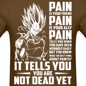 dragon ball super saiyan majin vegeta pain shirt - Men's T-Shirt