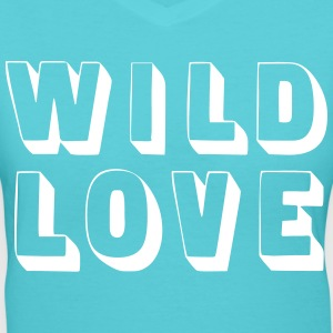 Wild Love T-Shirts - Women's V-Neck T-Shirt