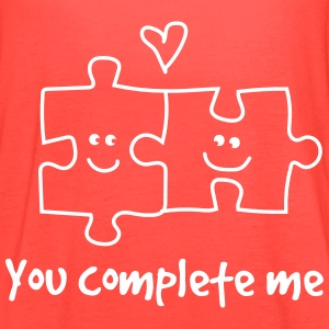 You complete me. Puzzle Pieces Tanks - Women's Flowy Tank Top by Bella