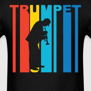 Trumpet Player Silhouette Music T-Shirt - Men's T-Shirt