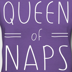 Queen of Naps T-Shirts - Women's V-Neck T-Shirt