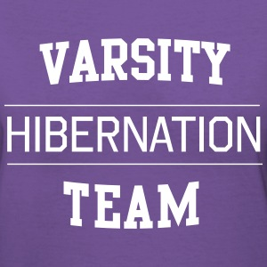 Varsity Hibernation Team T-Shirts - Women's V-Neck T-Shirt