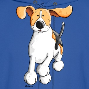 Funny Running Beagle Cartoon Hoodies - Men's Hoodie