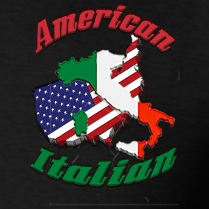 Mens American Italian T - Men's T-Shirt