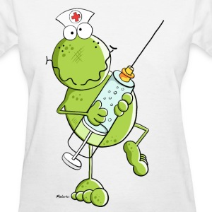 Nurse Frog Cartoon T-Shirts - Women's T-Shirt
