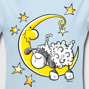Sheep in the Moon Baby Bodysuits - Long Sleeve Baby Bodysuit