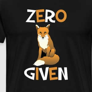 Zero Foxes Given Funny Fox T-shirt T-Shirts - Men's Premium T-Shirt
