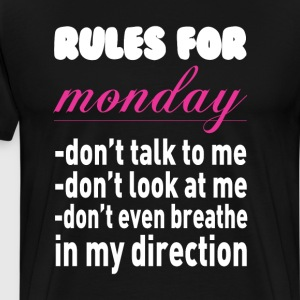 Rule for Monday Funny Graphic T-shirt T-Shirts - Men's Premium T-Shirt