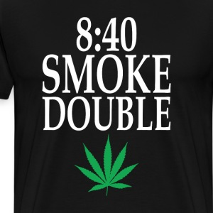 840 Smoke Double Funny Weed Smoking 420 T-shirt T-Shirts - Men's Premium T-Shirt