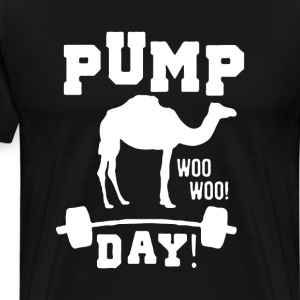 Pump Day Graphic Camel Workout T-shirt T-Shirts - Men's Premium T-Shirt