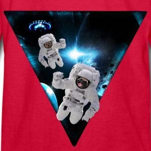 Puppies Lost in Space Kids' Shirts - Kids' Long Sleeve T-Shirt
