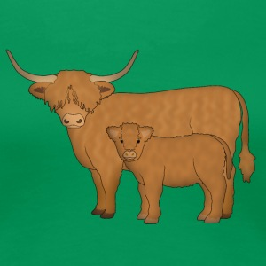 Highland Cattle kalf T-Shirts - Women's Premium T-Shirt