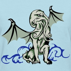 Cthulhu in  superhero pose - Women's T-Shirt