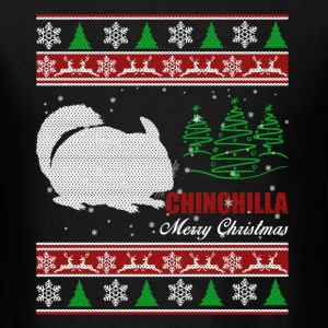 Chinchilla Shirt - Chinchilla Christmas Shirt - Men's T-Shirt