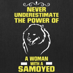 NEVER UNDERESTIMATE  A WOMAN WITH A SAVOYED Bags & backpacks - Tote Bag