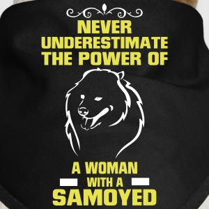 NEVER UNDERESTIMATE  A WOMAN WITH A SAVOYED Other - Dog Bandana