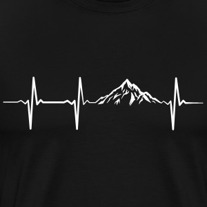 Mountain Heartbeat T-Shirts - Men's Premium T-Shirt