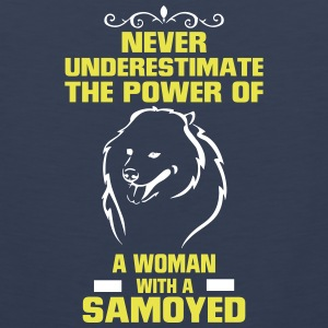 NEVER UNDERESTIMATE  A WOMAN WITH A SAVOYED Sportswear - Men's Premium Tank