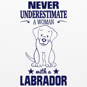 NEVER UNDERESTIMATE A WOMAN WITH A LABRADOR! Other - Pillowcase