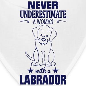 NEVER UNDERESTIMATE A WOMAN WITH A LABRADOR! Caps - Bandana
