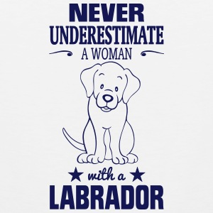 NEVER UNDERESTIMATE A WOMAN WITH A LABRADOR! Sportswear - Men's Premium Tank