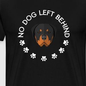 No Dog Left Behind Funny Graphic T-shirt T-Shirts - Men's Premium T-Shirt