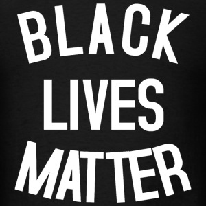 Black Lives Matter white T-Shirts - Men's T-Shirt