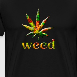 Weed Leaf Graphic Weed Smoking T-shirt T-Shirts - Men's Premium T-Shirt
