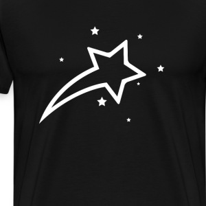 Shooting Star Graphic Vintage T-shirt T-Shirts - Men's Premium T-Shirt